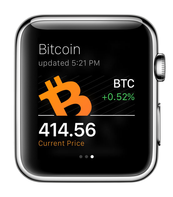 Bitcoin detail Apple Watch