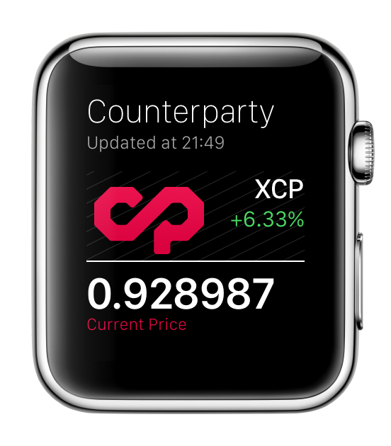 CounterParty for Apple Watch