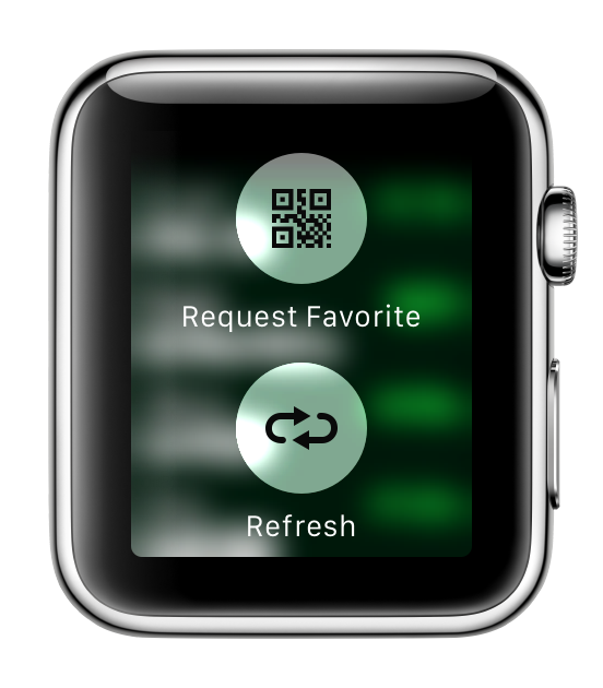 Bitcoin shortcut, Apple Watch