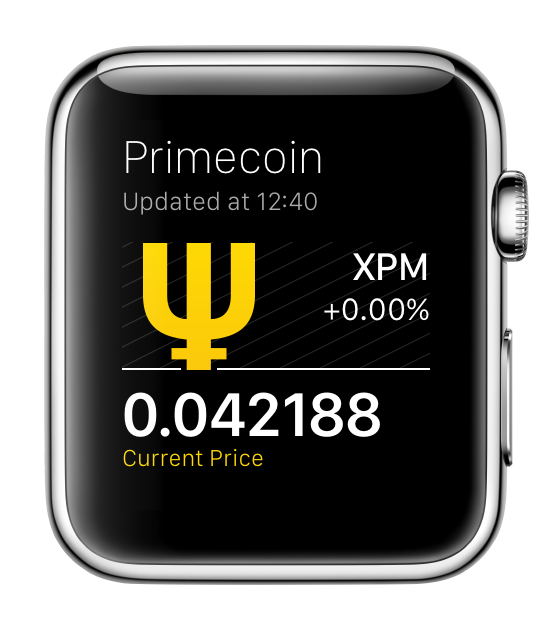 Primecoin for Apple Watch